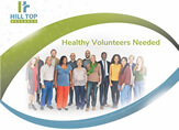 Hill Top Clinical Medical Research Healhty Volunteers
